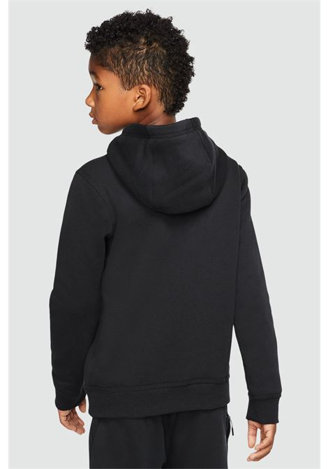 Black hoodie with mini logo in contrast. Baby model. Brand: Nike NIKE | Sweatshirt | BV3757011