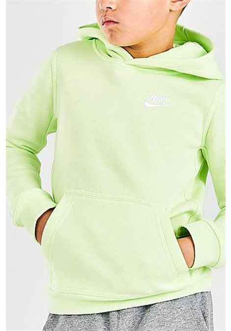 Yellow hoodie with mini logo in contrast. Baby model. Brand: Nike NIKE | Sweatshirt | BV3757383