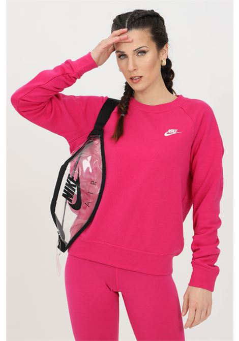 Fuchsia sweatshirt with small logo in contrast. Nike  NIKE | Sweatshirt | BV4110616