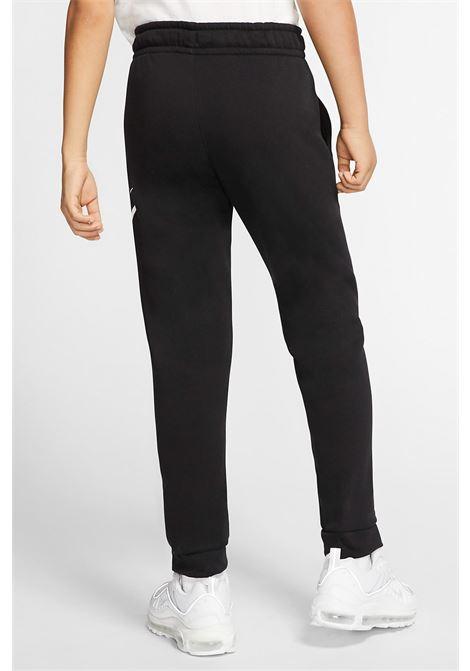 Black Sportswear Club Fleece trousers with contrasting logo on the left leg. Baby model. Brand: Nike NIKE | Pants | CJ7863010