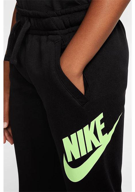 Black Sportswear Club Fleece trousers with contrasting logo on the left leg. Baby model. Brand: Nike NIKE | Pants | CJ7863014