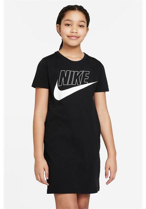 Little girl black dress nike sportswear midi NIKE | Dress | CU8375010