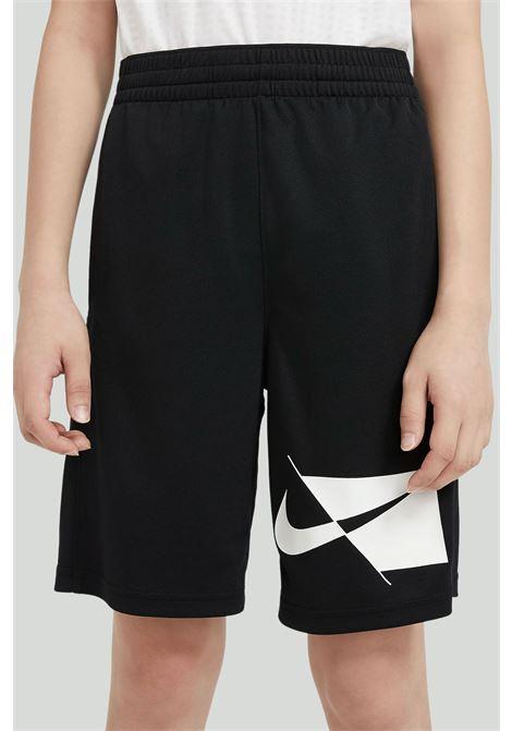 Black short kid unisex nike with logo NIKE | Shorts | CU8959-010010
