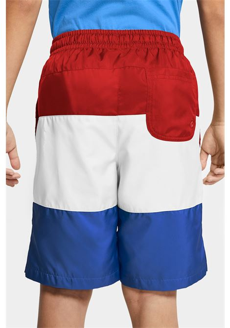 Multicolor shorts with small logo in contrast nike NIKE | Beachwear | CW1021659