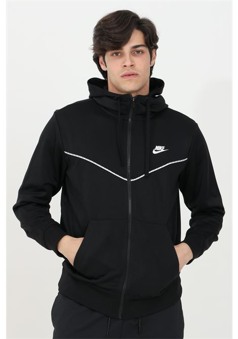 Black hoodie with full lenght zip NIKE | Sweatshirt | CZ7822010
