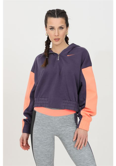 Purple pink hoodie with half zip nike NIKE | Sweatshirt | CZ8164573