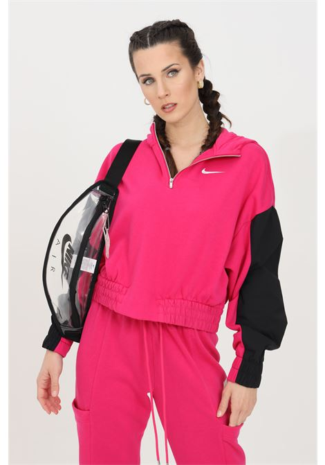 Fuchsia black hoodie with half zip nike NIKE | Sweatshirt | CZ8164615