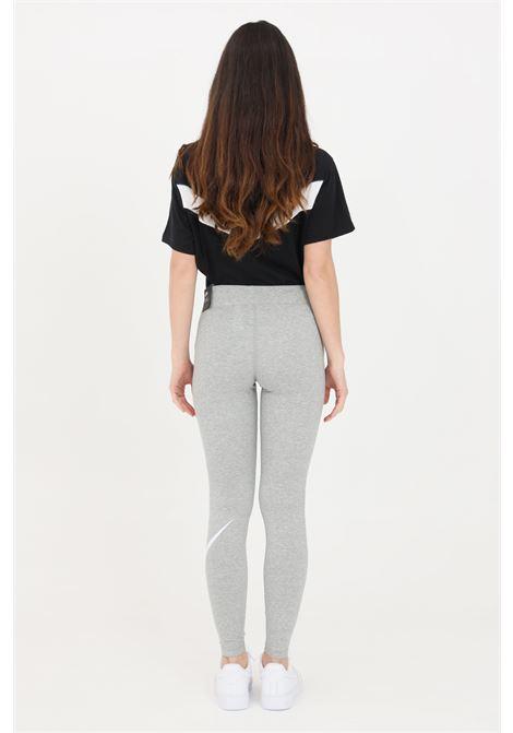 Leggings donna grigio nike con logo a contrasto NIKE | Leggings | CZ8530063