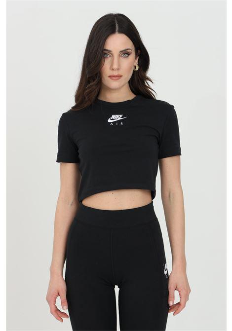 T-shirt donna nero nike manica corta modello crop NIKE | T-shirt | CZ8632010