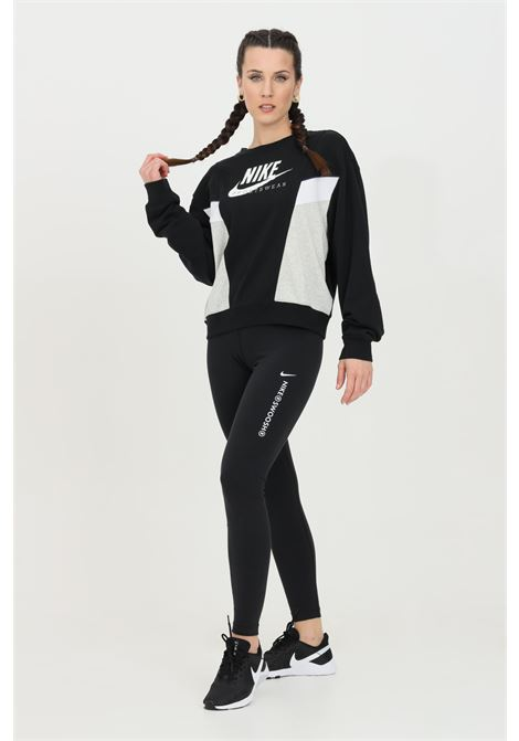 Leggings donna nero nike con stampa a contrasto NIKE | Leggings | CZ8901010