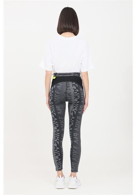 Leggings donna fantasia nero nike con stampa allover NIKE | Leggings | CZ9388010