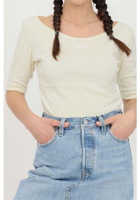 T-shirt donna bianco nike a manica corta con scollo a barca NIKE | T-shirt | CZ9812113