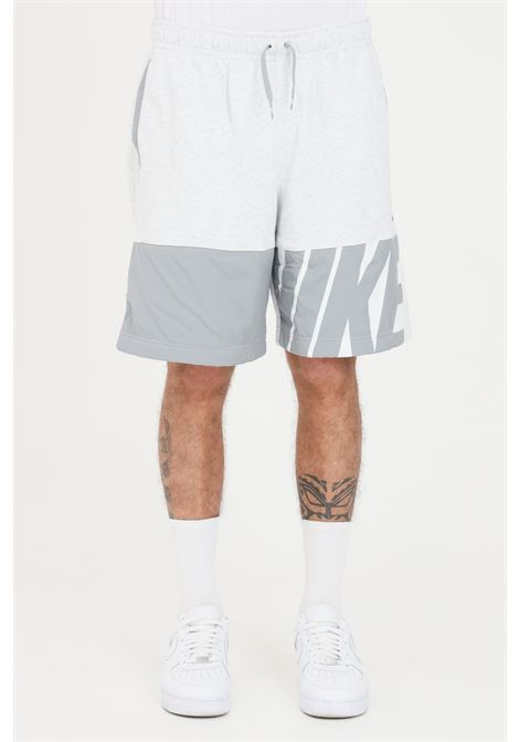 Grey shorts with maxi logo in contrast nike NIKE | Shorts | CZ9952051