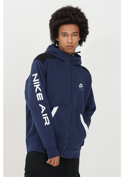 Felpa sportswear air hoodie uomo blu nike con zip NIKE | Felpe | DA0235410