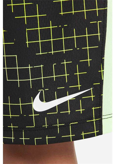 Shorts dri-fit bambino nero nike con stampa allover NIKE | Shorts | DA0264011