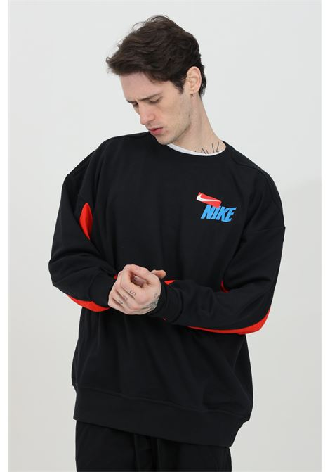 Two-tone crew neck sweatshirt with logo on the front NIKE | Sweatshirt | DA0391010