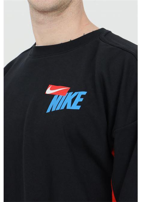 Two-tone crew neck sweatshirt with logo on the front NIKE | Sweatshirt | DA0391010