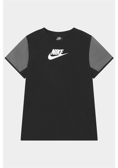 Black baby t-shirt with front logo in contrast nike NIKE | T-shirt | DA0619010