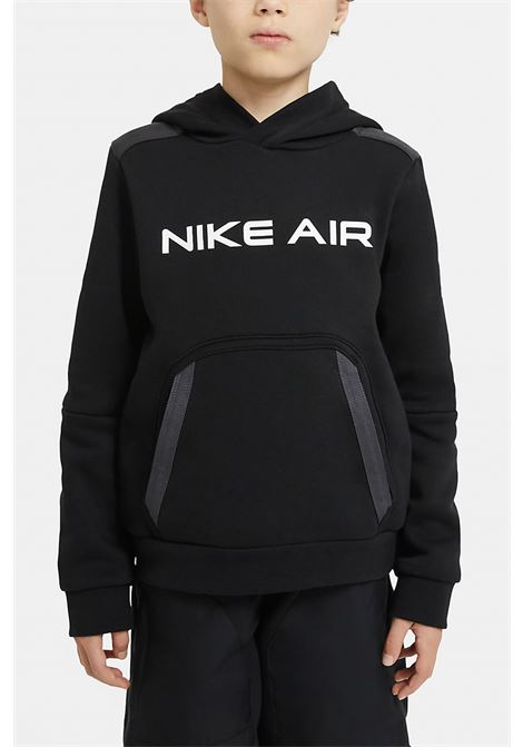 Black hoodie with front logo and maxi pocket. Baby model. Brand: Nike NIKE | Sweatshirt | DA0700010