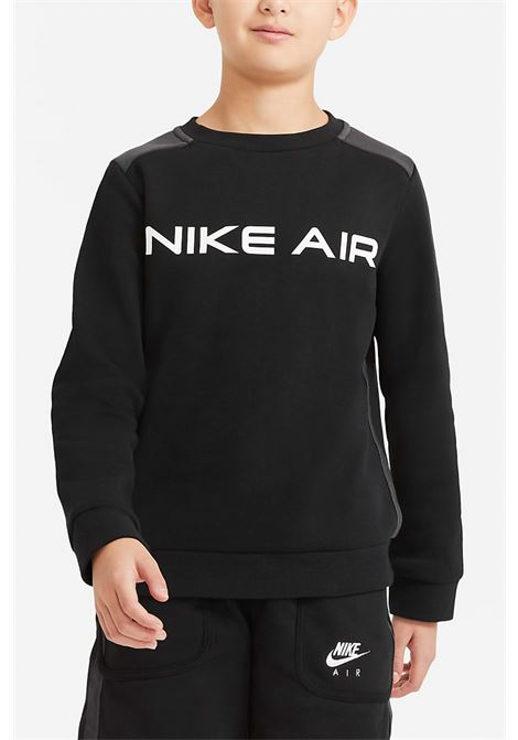 Black sweatshirt with front logo in contrast. Baby model. Brand: Nike NIKE | Sweatshirt | DA0703010