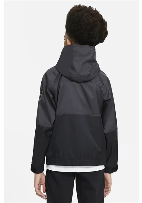 Black jacket in water-repellent fabric with hood. Baby model. Brand: Nike NIKE | Jacket | DA0704010