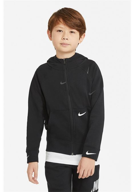 Black hoodie with front zip. Baby model. Brand: Nike NIKE | Sweatshirt | DA0768010
