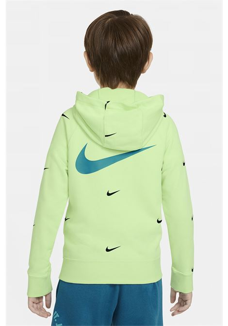 Green hoodie with front zip. Baby model. Brand: Nike NIKE | Sweatshirt | DA0768383