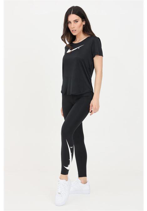 Leggings donna nero nike con logo a contrasto NIKE | Leggings | DA1145010