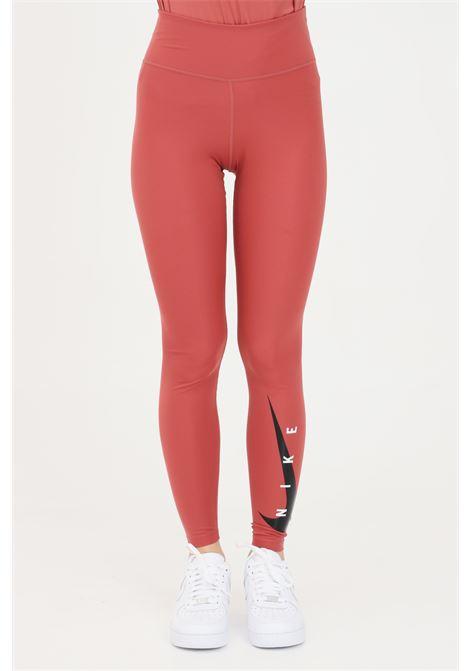 Leggings donna rosa nike con logo a contrasto NIKE | Leggings | DA1145691