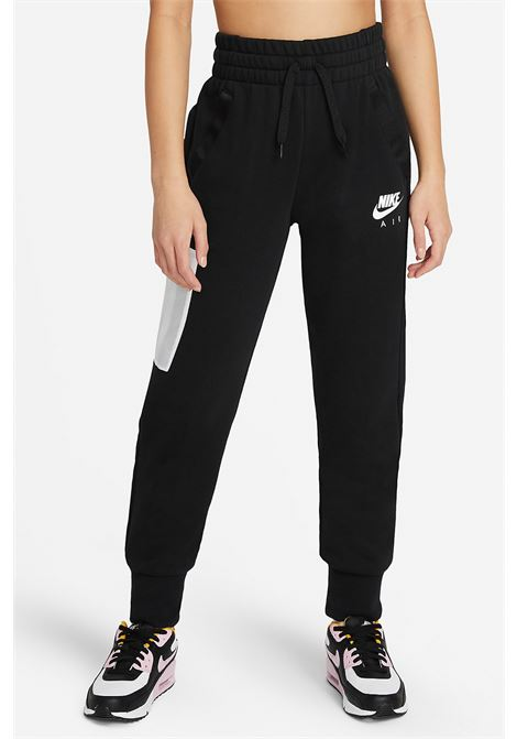 Black pants with spring at the waist, elastic cuffs and small logo in contrast. Baby model. Brand: Nike NIKE | Pants | DA1185010