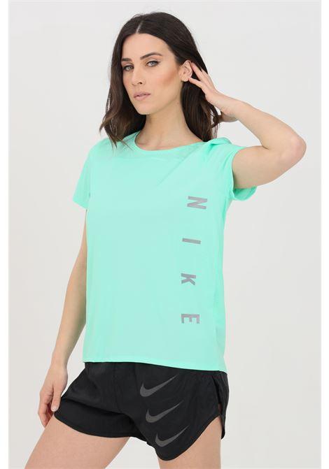 Turquoise t-shirt with logo print, short sleeve. Nike NIKE | T-shirt | DA1246342