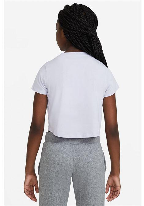 T-shirt bambina tinta unita crop NIKE | T-shirt | DA6925530