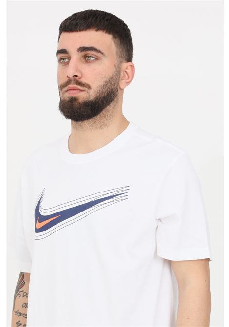 White t-shirt with logo print on the front short sleeve nike NIKE | T-shirt | DB6470100