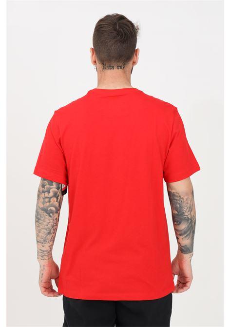 T-shirt uomo rosso nike a manica corta con stampa logo frontale NIKE   T-shirt   DB6470657
