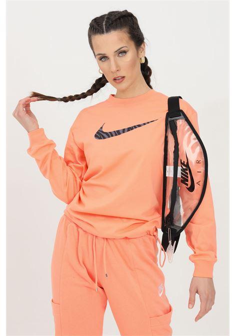 Felpa donna pesca nike girocollo con logo frontale NIKE | Felpe | DC5294693