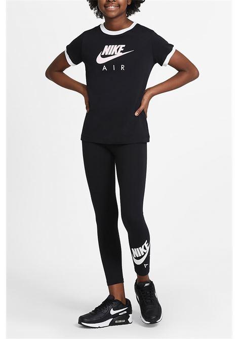 Black ringer t-shirt short sleeve nike NIKE | T-shirt | DC7158010