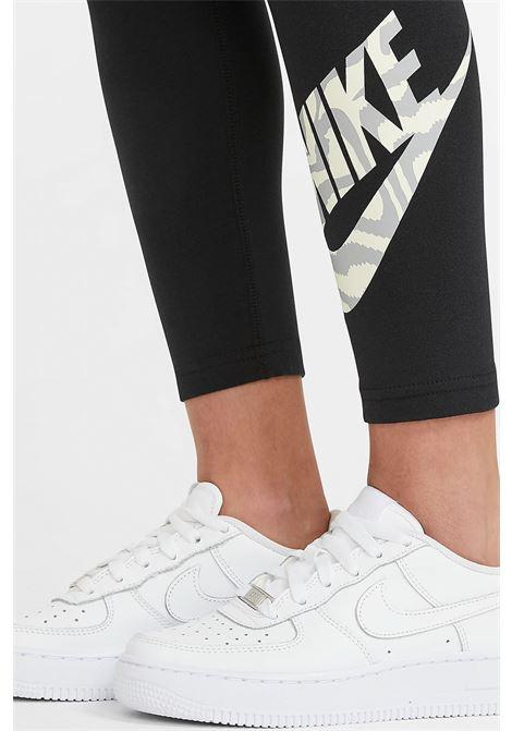 Black leggings with contrasting logo, slim model. Baby model. Brand: Nike NIKE | Leggings | DC9761010