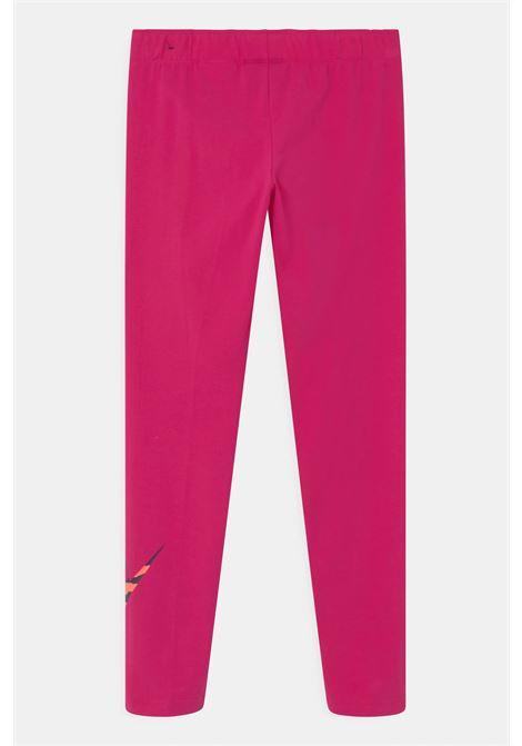 Fuchsia leggings with animalier logo, slim model. Baby model. Brand: Nike NIKE | Leggings | DC9761615