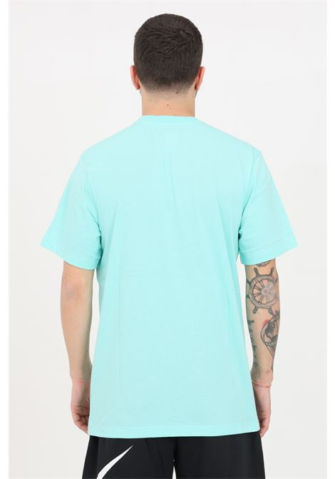 T-shirt uomo turchese nike a manica corta con maxi stampa frontale NIKE   T-shirt   DD1280307
