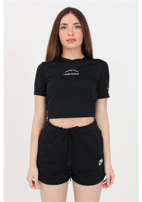 T-shirt donna nero nike con taglio corto NIKE | T-shirt | DD1487010