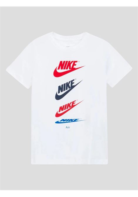 White baby t-shirt with multicolor logo nike NIKE | T-shirt | DH6527100