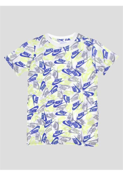 White baby t-shirt with allover pattern print nike NIKE | T-shirt | DH6560101