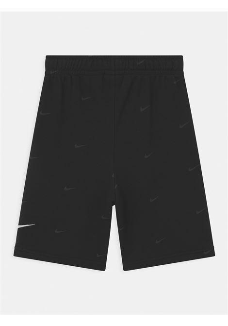 Shorts bambino nero nike con stampa pattern NIKE | Shorts | DH9662010