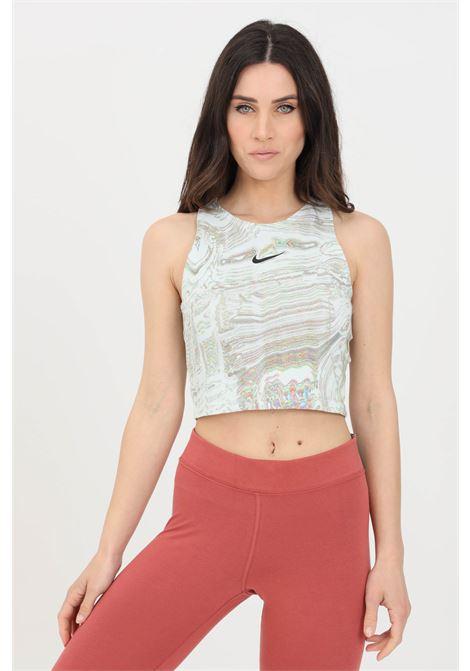Top donna fantasia bianco nike sport taglio corto NIKE | Top | DJ4126100
