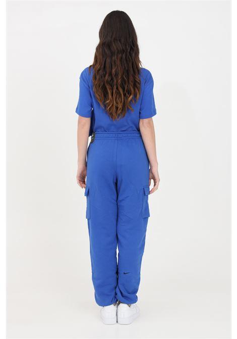 Pantaloni donna blu nike sport con logo a contrasto NIKE | Pantaloni | DJ4128480