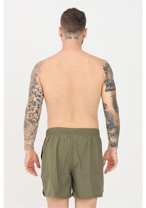 Shorts mare uomo verde militare nike con banda laterale logata NIKE   Beachwear   NESSA477-211211
