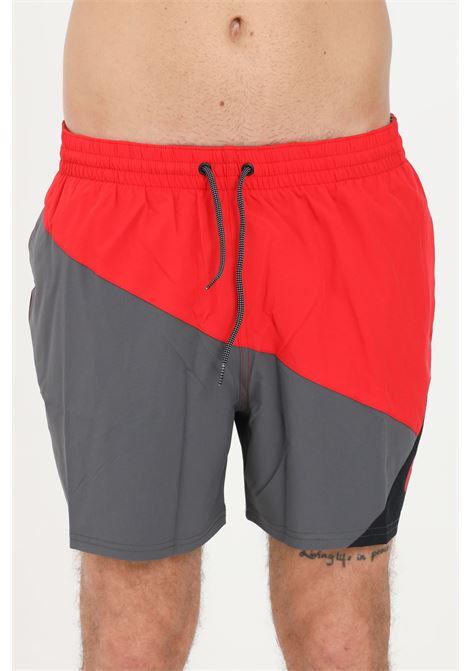 Red grey men's beach shorts with laces nike  NIKE | Beachwear | NESSA484-614614
