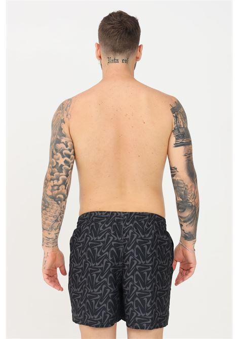 Shorts mare uomo nero nike con stampa allover NIKE   Beachwear   NESSA520-0011