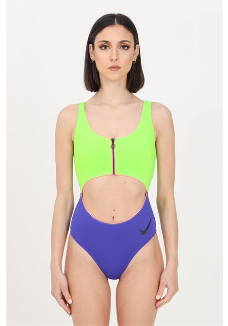 Costume intero donna bicolore nike con zip NIKE | Beachwear | NESSB309-429429