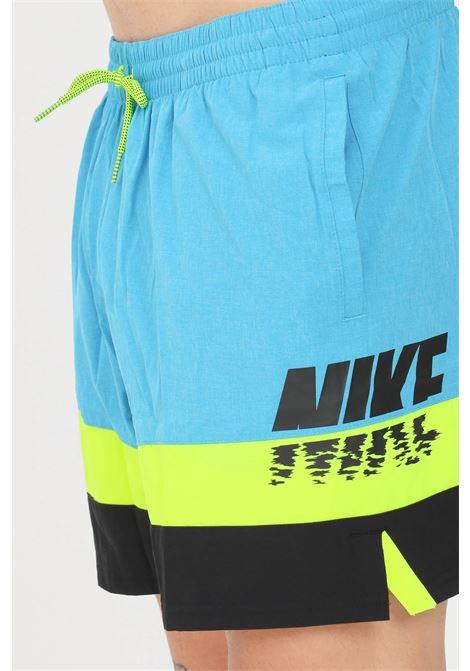 Blue men's beach shorts with logo print nike NIKE   Beachwear   NESSB503-406406